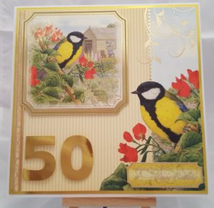 Living Creatively with Fibro | Hunkydory Birds of Britain 50th Birthday Card