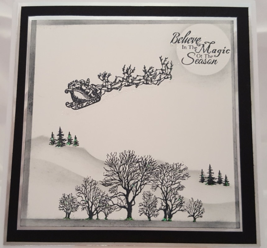 Living Creatively with Fibro | A Christmas scenic card