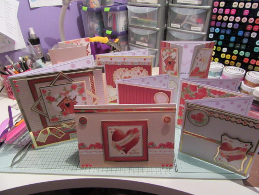 Living Creatively with Fibro | Hearts for You Hunkydory Papercraft Kit