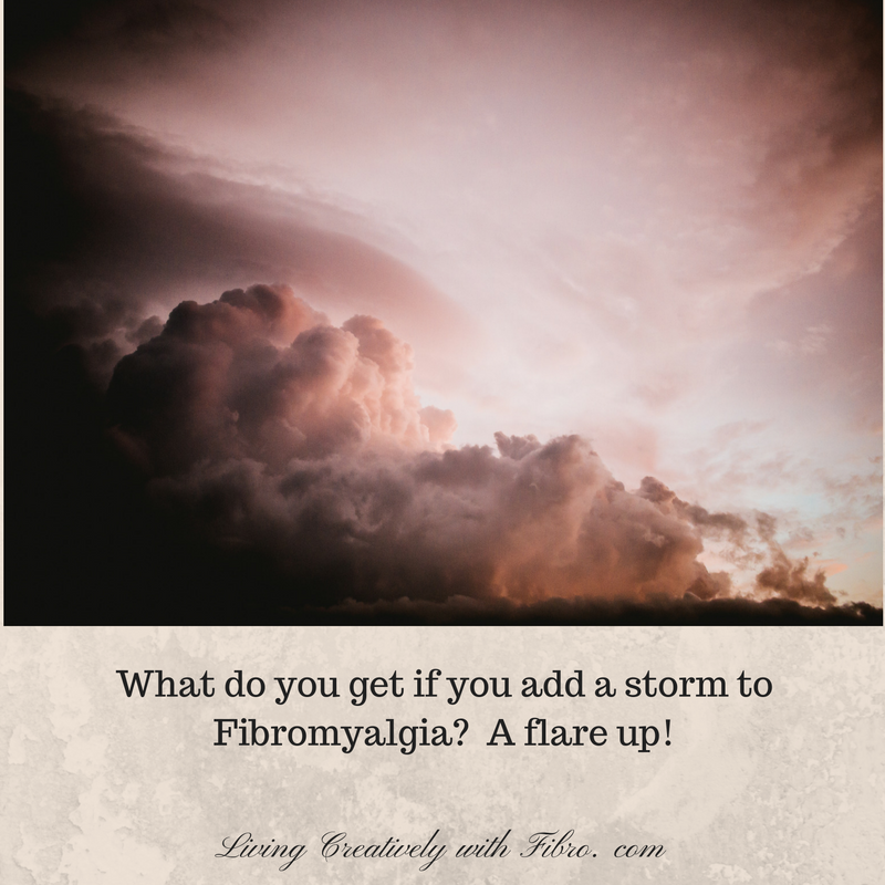 Living Creatively with Fibro | A Stormy Flare Up