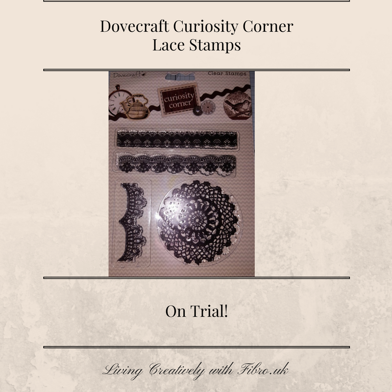 Living Creatively with Fibro | Testing Dovecraft Lace Stamps