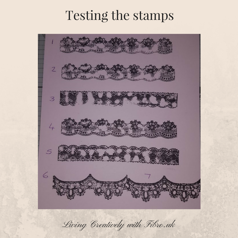 Living Creatively with Fibro | Lace Stamps
