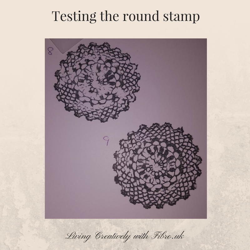 Living Creatively with Fibro | Round Lace Stamps