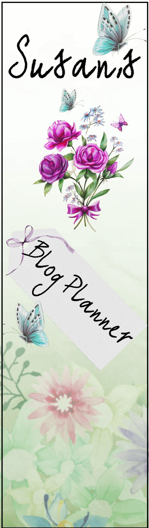 My beautiful digitally crafted blog planner spine label