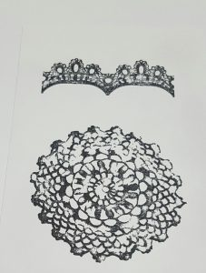 Living Creatively with Fibro   Dovecraft Doily Stamps
