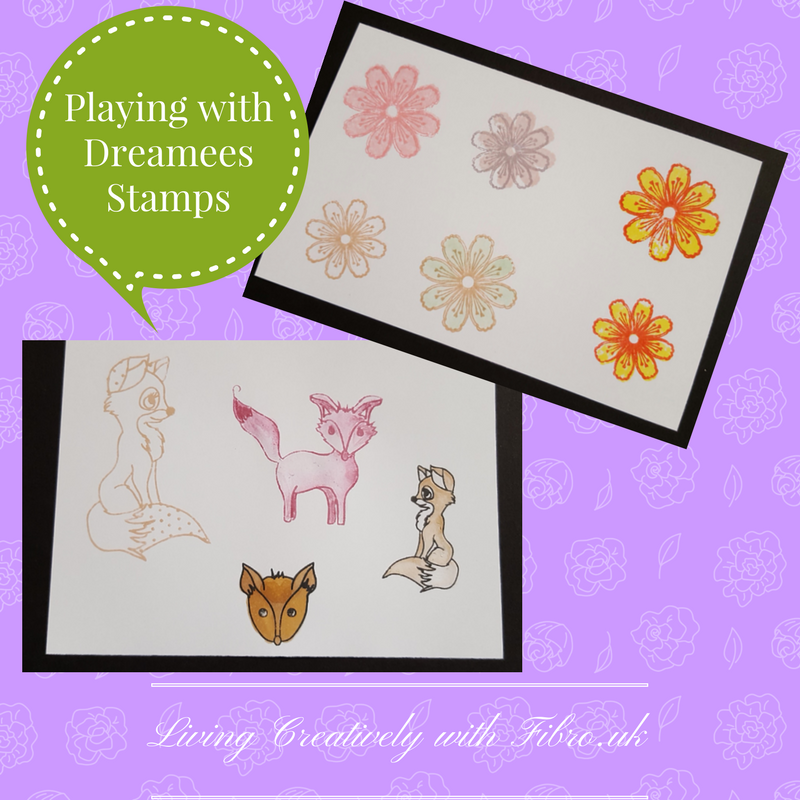 Living Creatively with Fibro | Dreamees Frilly Flowers and Fantastic Fox