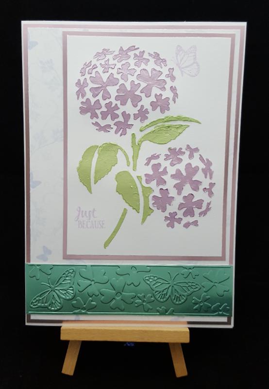 Hydrangea Card 1