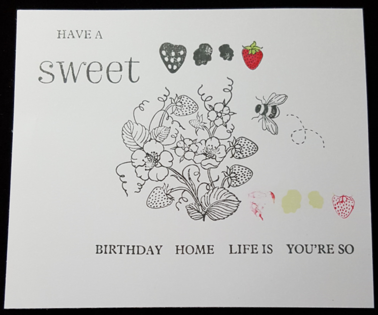 Living Creatively with Fibro | Life is Sweet Stamp Set