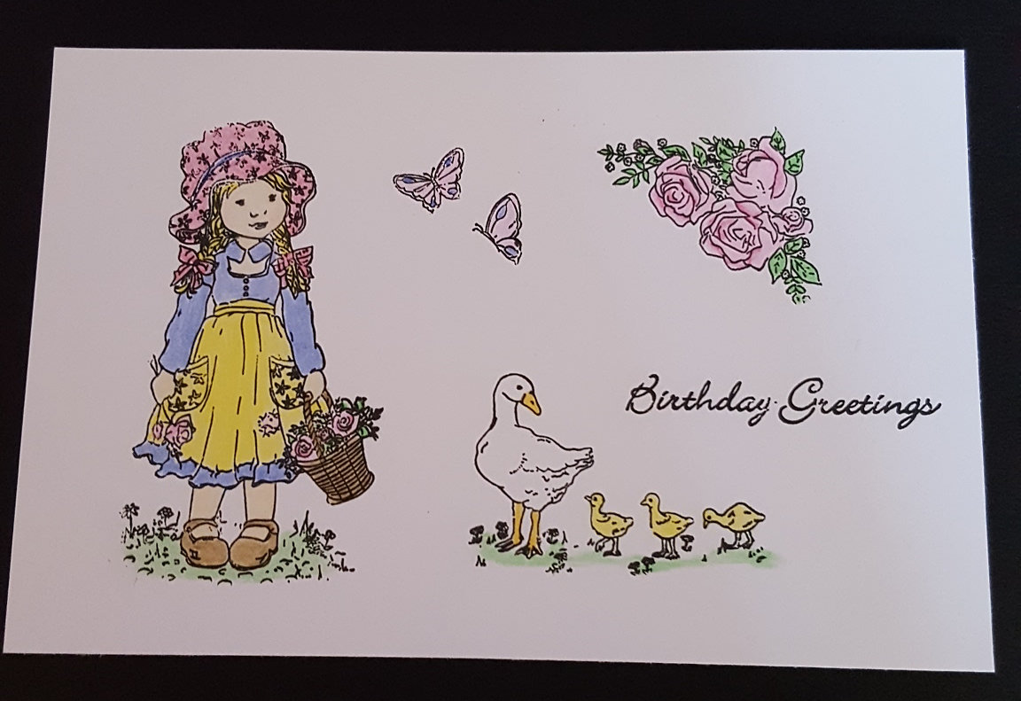 Lily Rose Stamped and Coloured