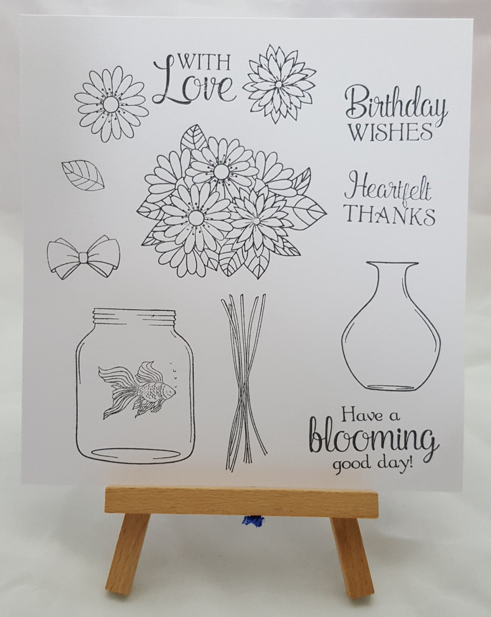 Build a Bouquet Stamped
