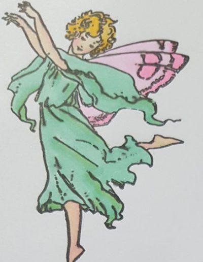 Living Creatively with Fibro | Sprint Fairy 1 Coloured
