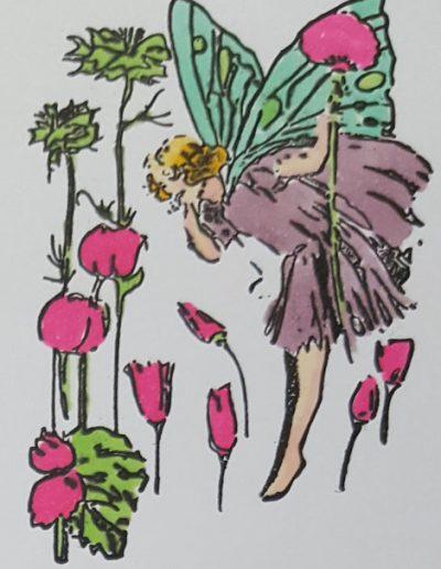 Living Creatively with Fibro | Sprint Fairy 2 Coloured
