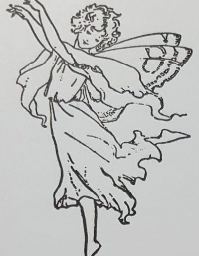Living Creatively with Fibro | Spring Fairy 1 Stamped