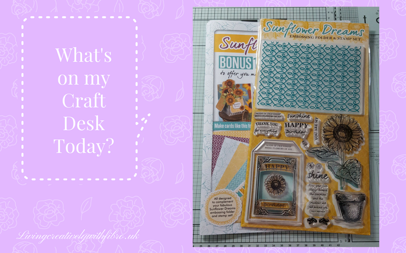 Living Creatively with Fibro | Sunflower Dreams from Papercraft Essentials on my craft Desk