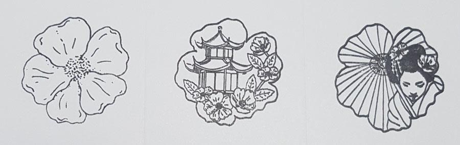 Cherry Blossom Joy Stamps
