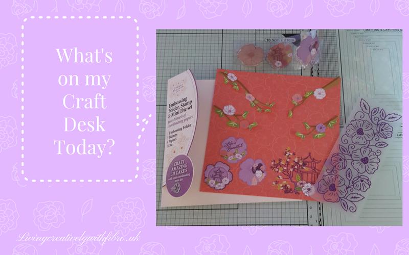 Living Creatively with Fibro | Cherry Blossom Joy on my craft desk
