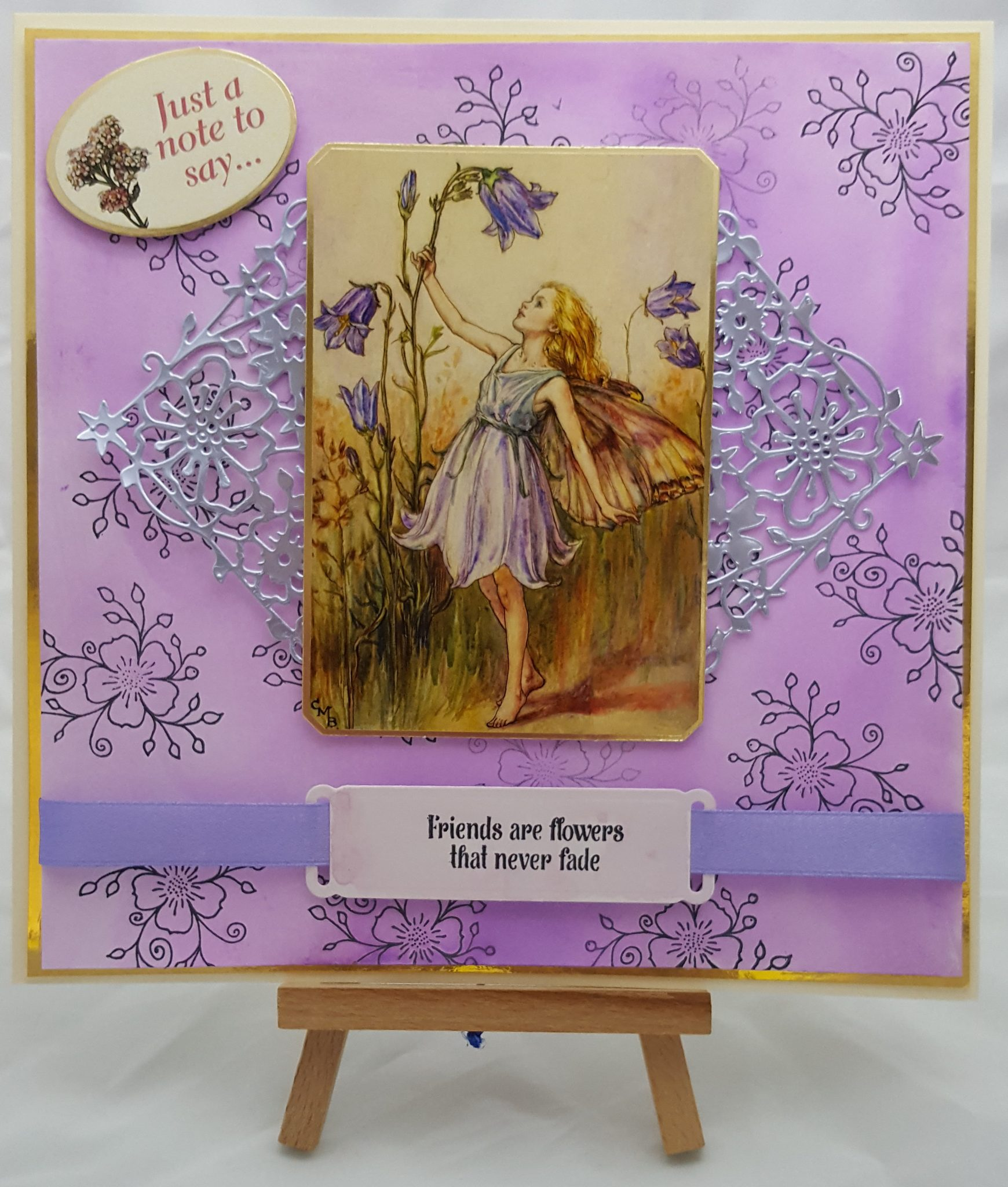 Cottage Garden completed card