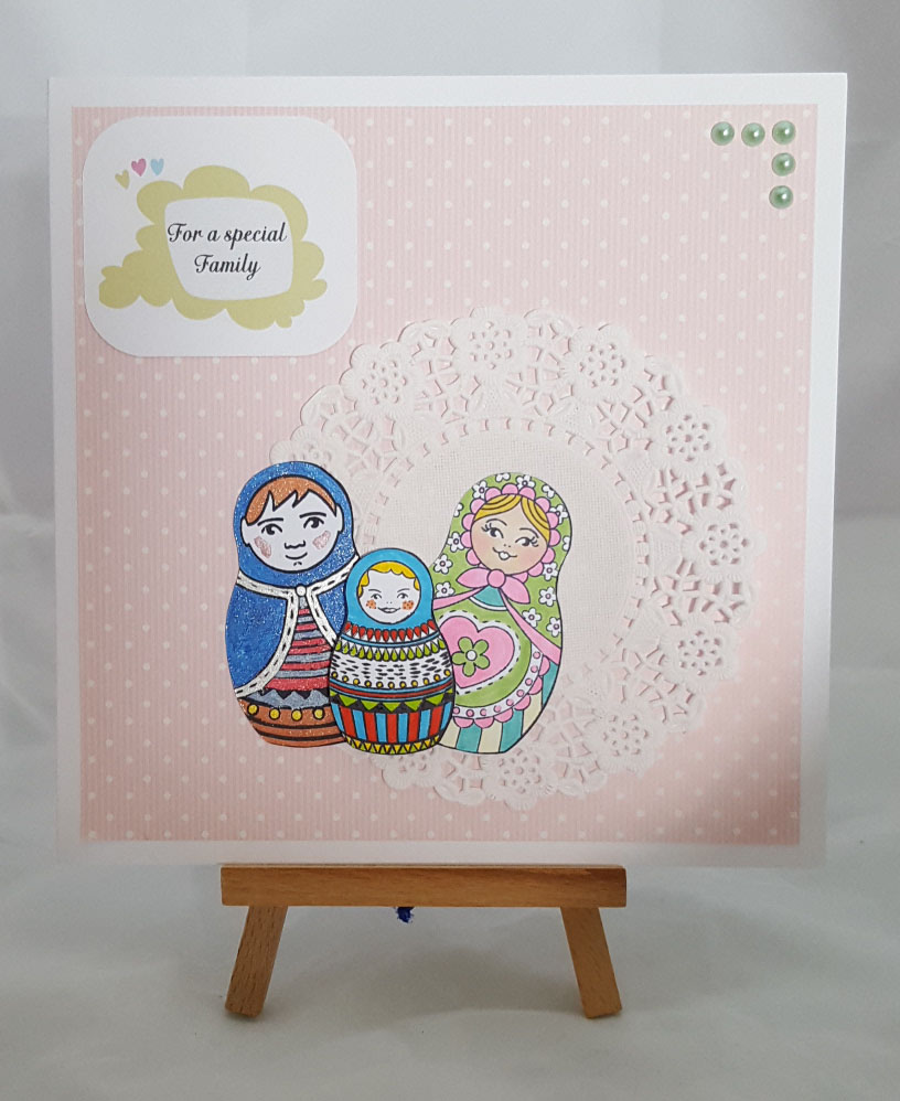 Family Ties Completed Card