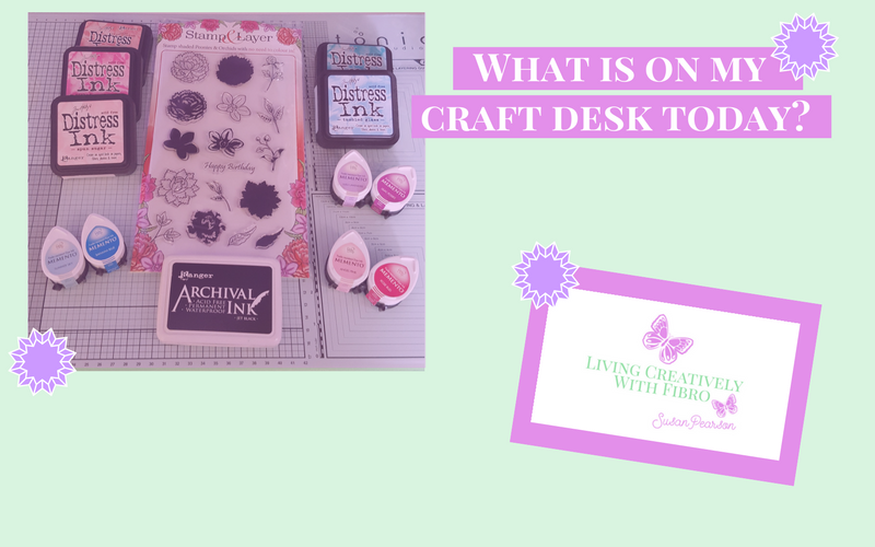 Living Creatively with Fibro | Stamp & Layer Peonies and Orchids Set
