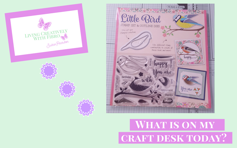 Living Creatively with Fibro | What's on my craft desk today
