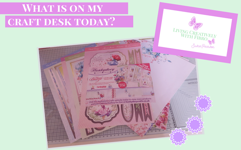 Living Creatively with Fibro   Floral Breeze Kit on my craft desk