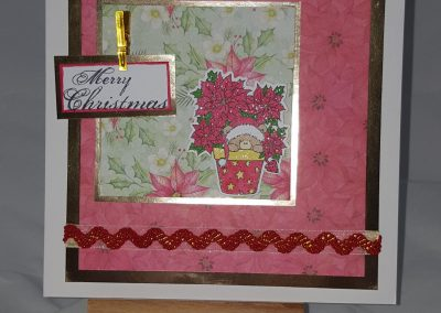 Living Creatively with Fibro | Painted Poinsettia Completed Card