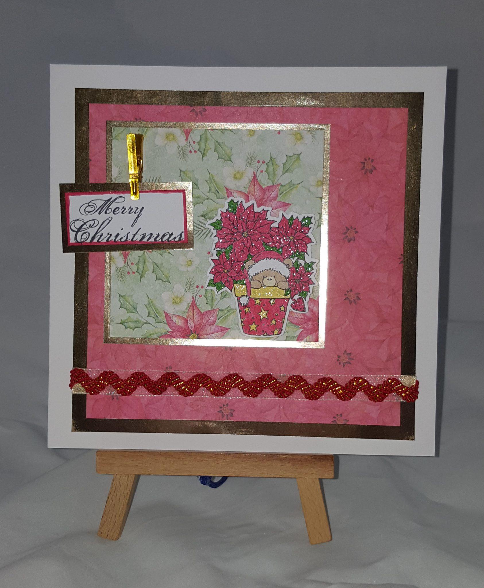 Painted Poinsettia Card