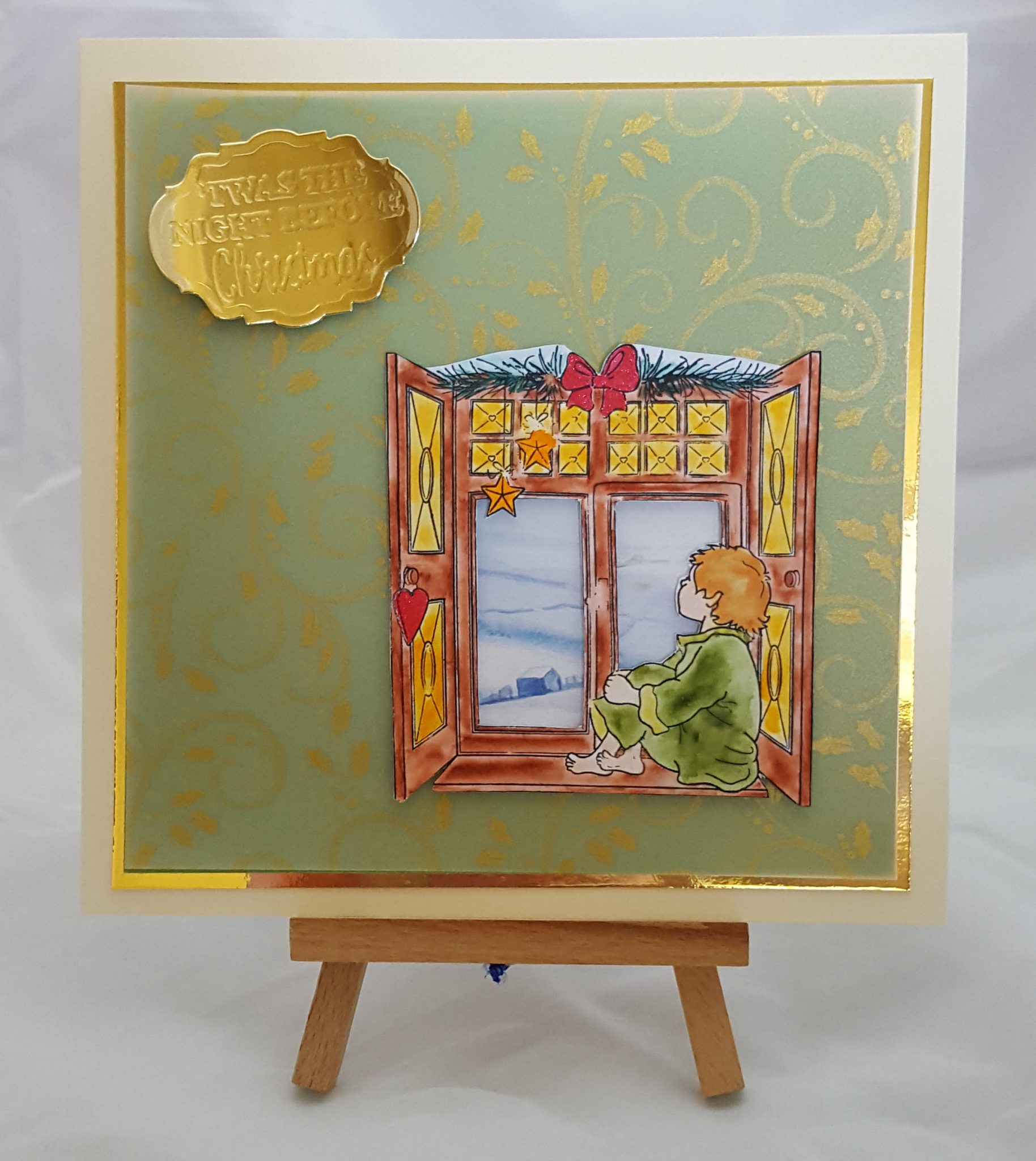 Away in a Manger Completed Card