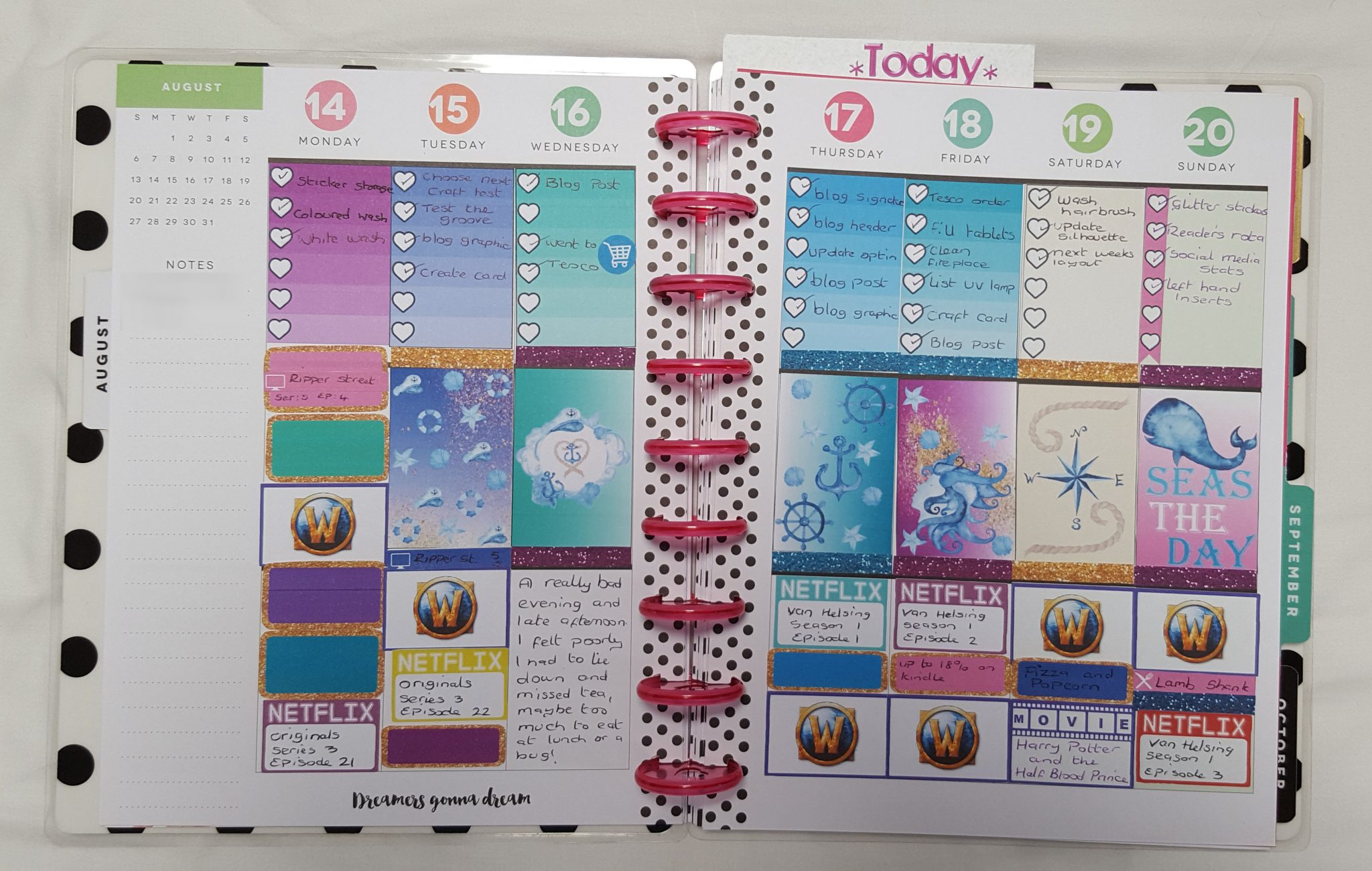 Happy Planner Week 33
