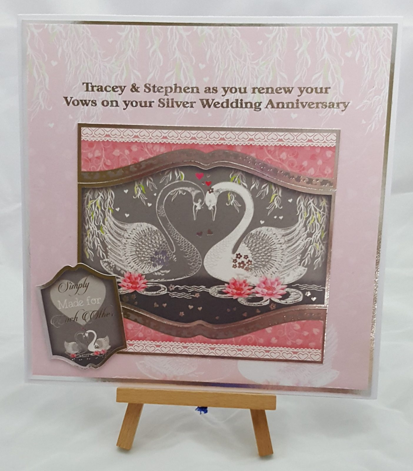 Hunkydory Silver Anniversary Card
