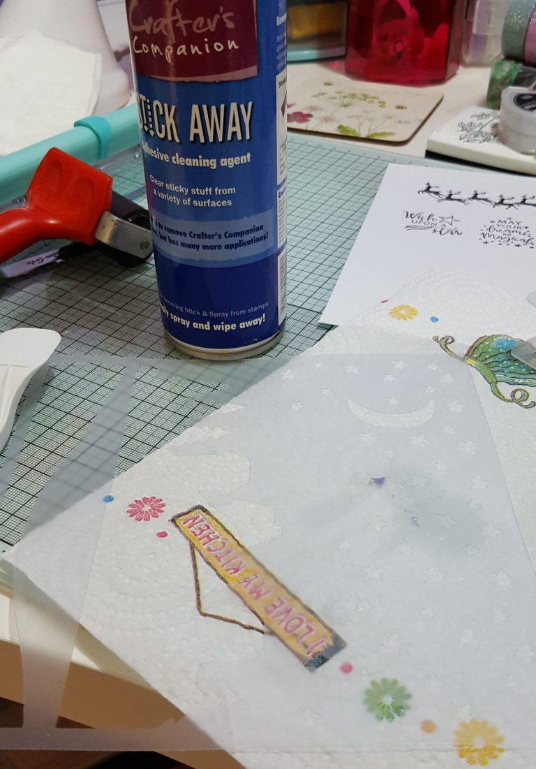 Living Creatively with Fibro | Starry Night Stencil Sticky Mess