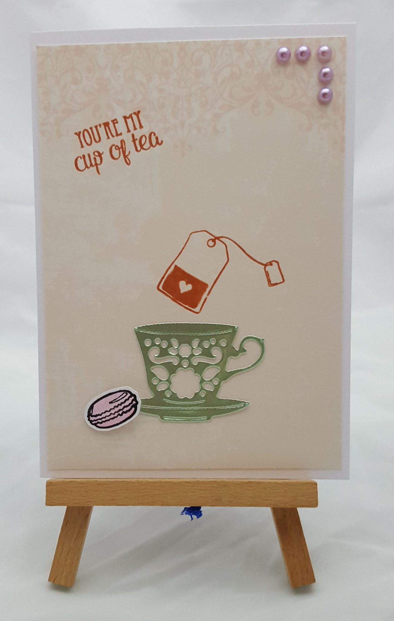 Time for Tea Completed Card