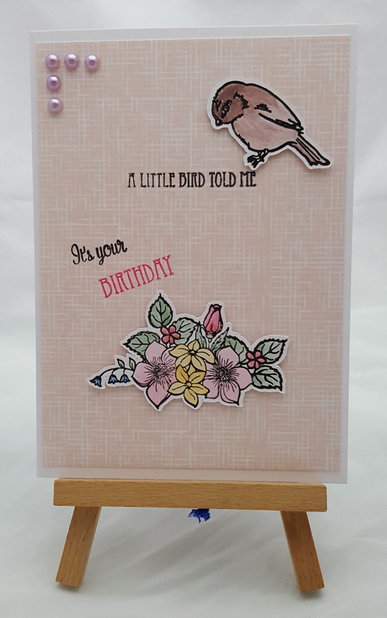 Time for Tea a little bird card