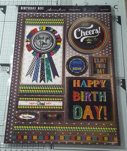 Living Creatively with Fibro | Birthday Boy Papercraft Kit