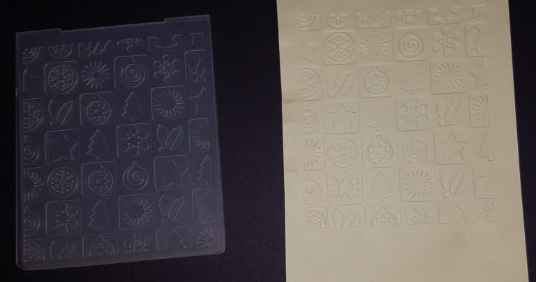 Living Creatively with Fibro | Christmas Squares Embossing Folder