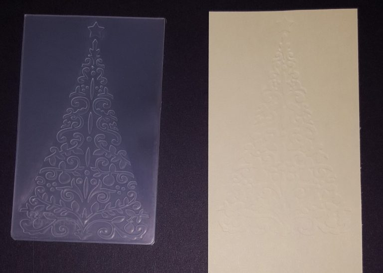 Living Creatively with Fibro | Christmas Tree Embossing Folder