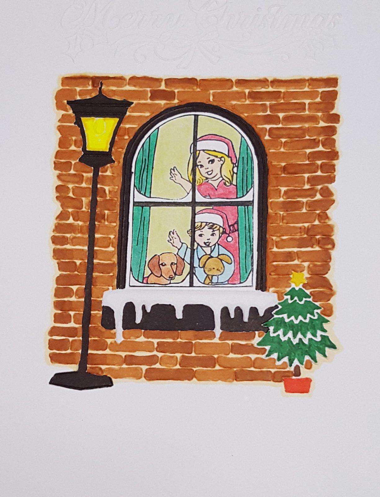 Christmas Window Coloured