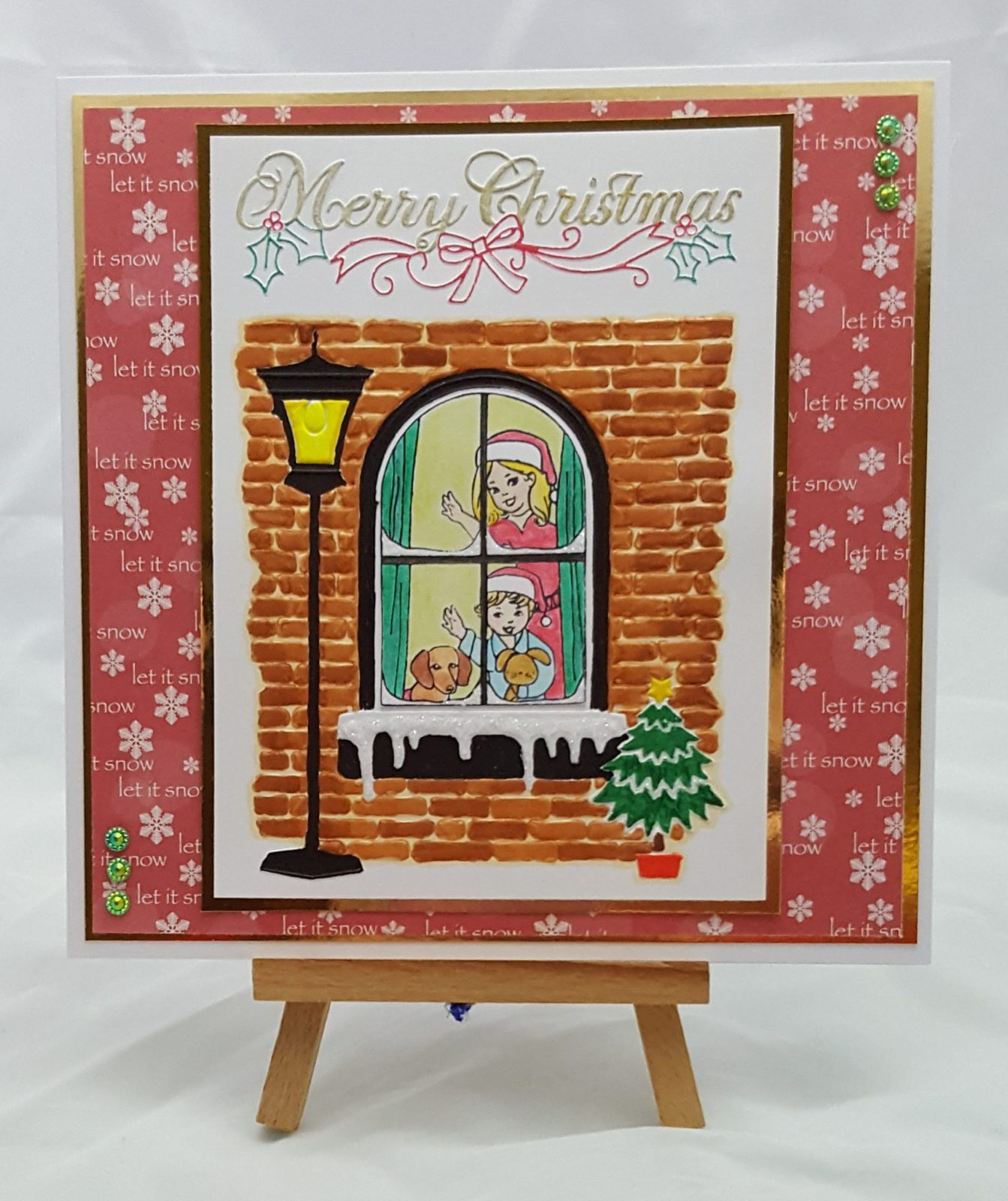 Christmas Window Completed Card