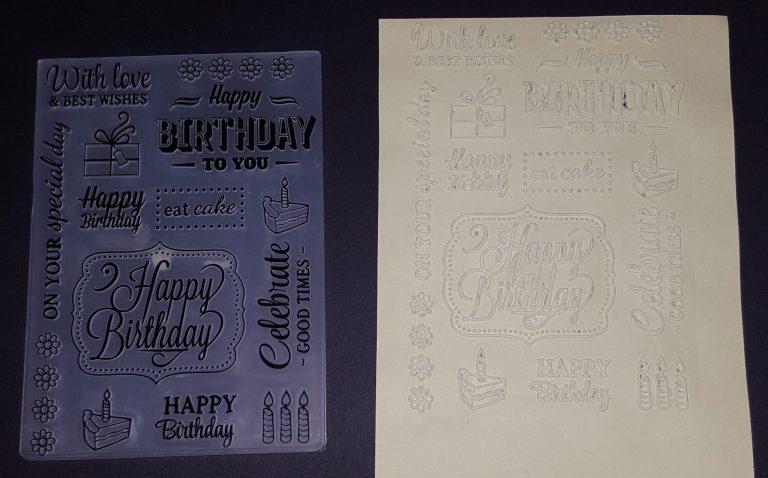 Living Creatively with Fibro | Happy Birthday Embossing Folder