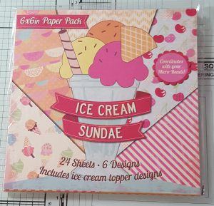 Living Creatively with Fibro | Ice Cream Sundae Paper Pad