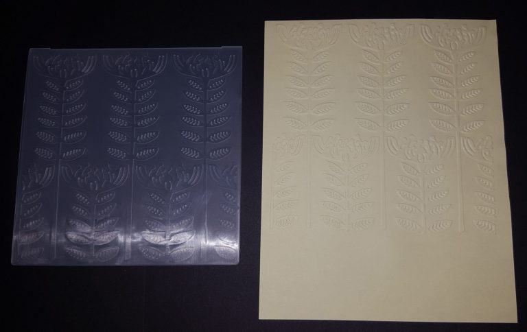 Living Creatively with Fibro | Modern Floral Embossing Folder | Striped Style Embossing Folder