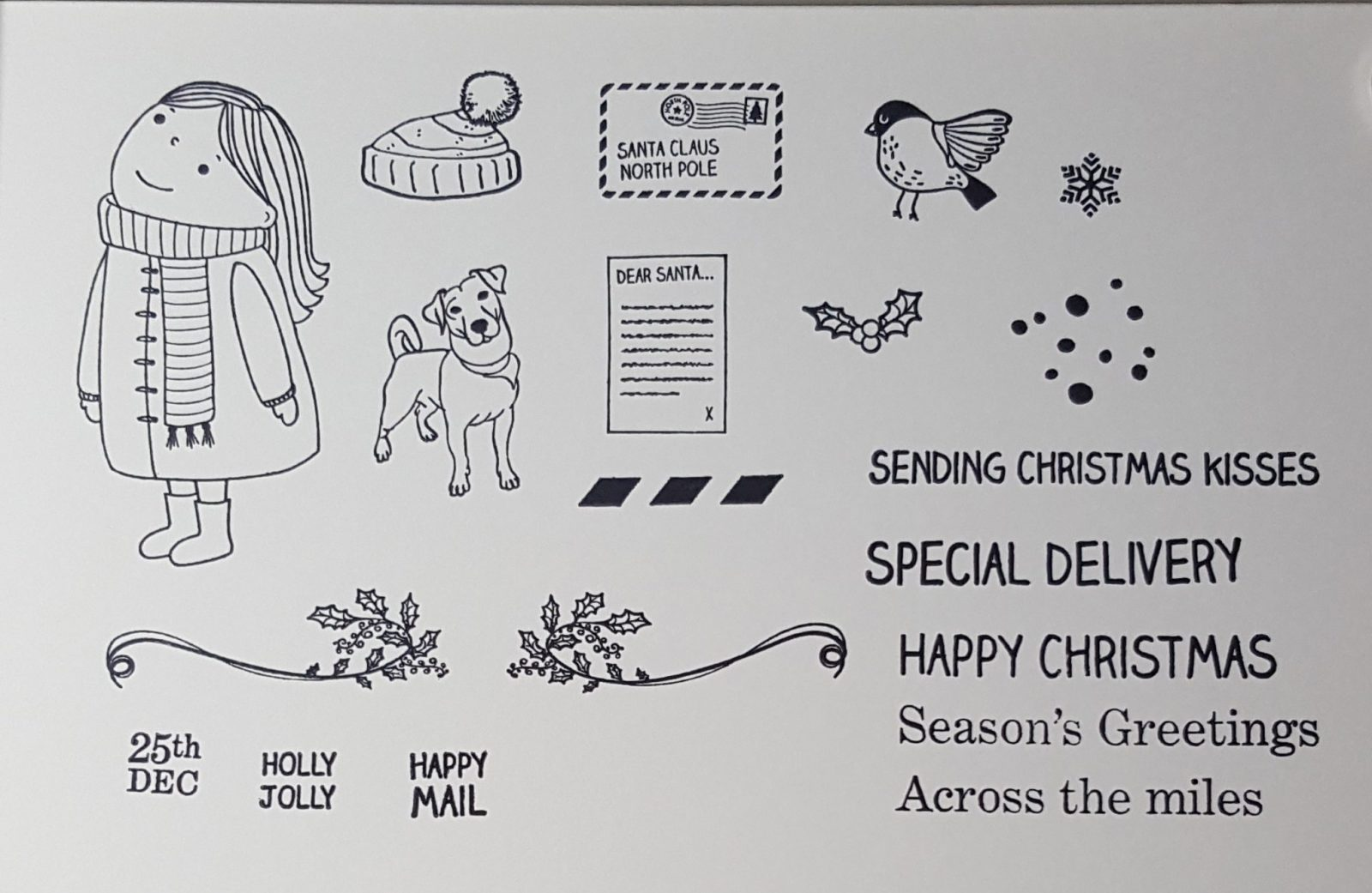 Sending Christmas Wishes Stamped