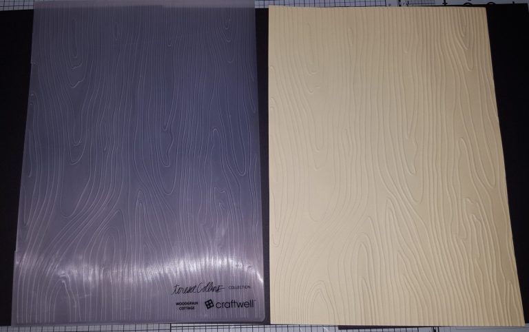 Living Creatively with Fibro | Wood Grain Embossing Folder