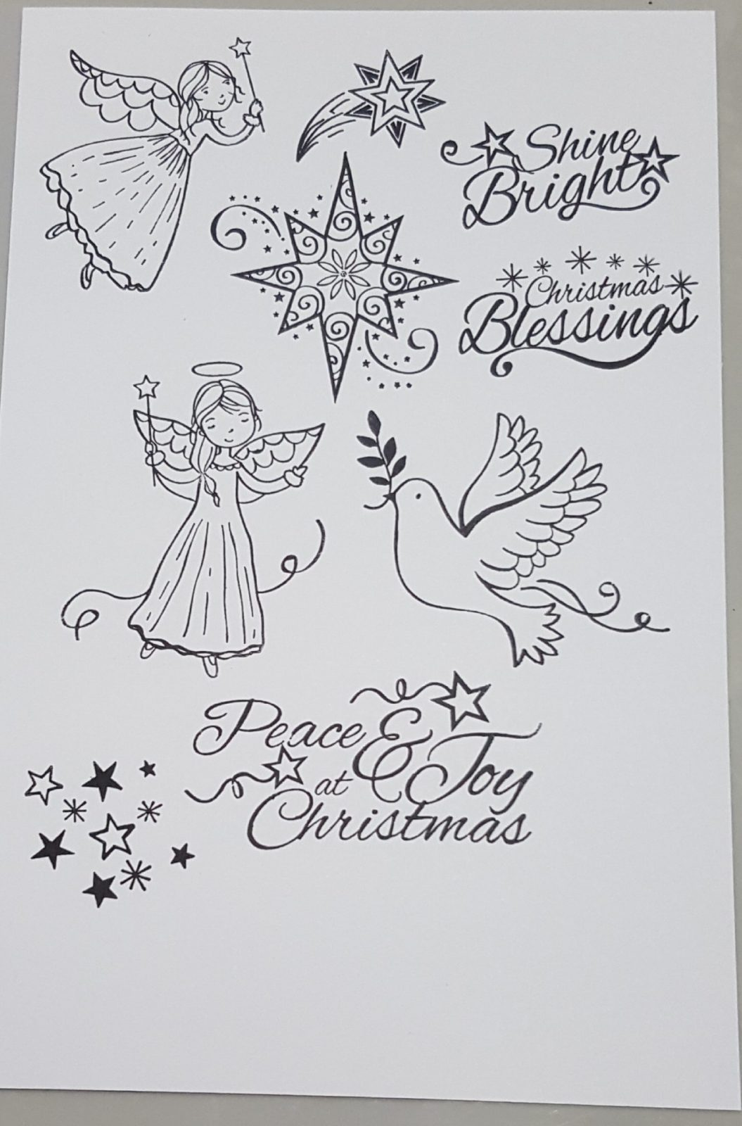 peace and joy stamped