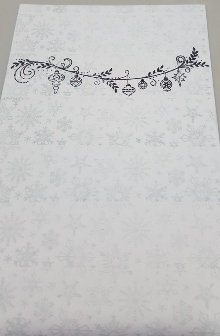 Living Creatively with Fibro | Christmas 5 in 1 stamp set Festive Garland