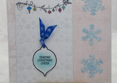 Living Creatively with Fibro | Christmas 5 in 1 stamp set completed card