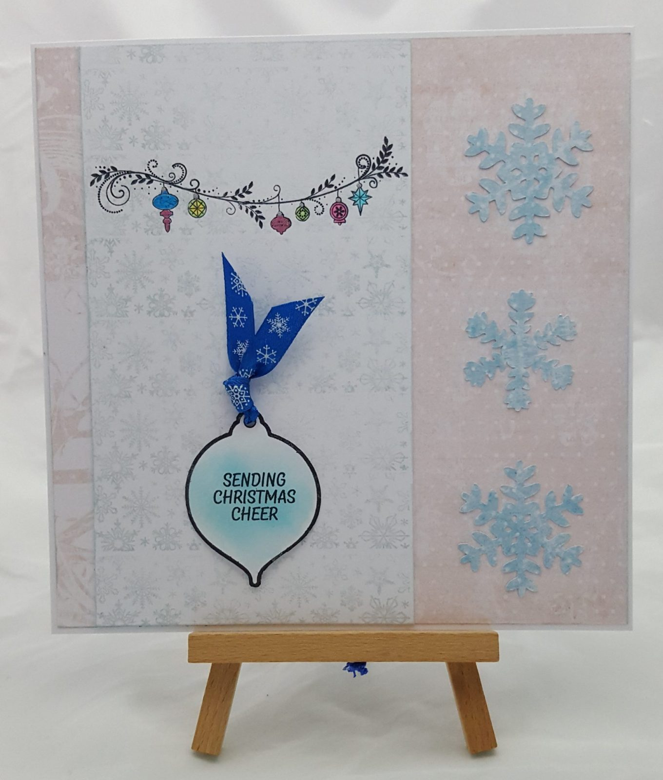 Christmas 5 in 1 stamp set completed card