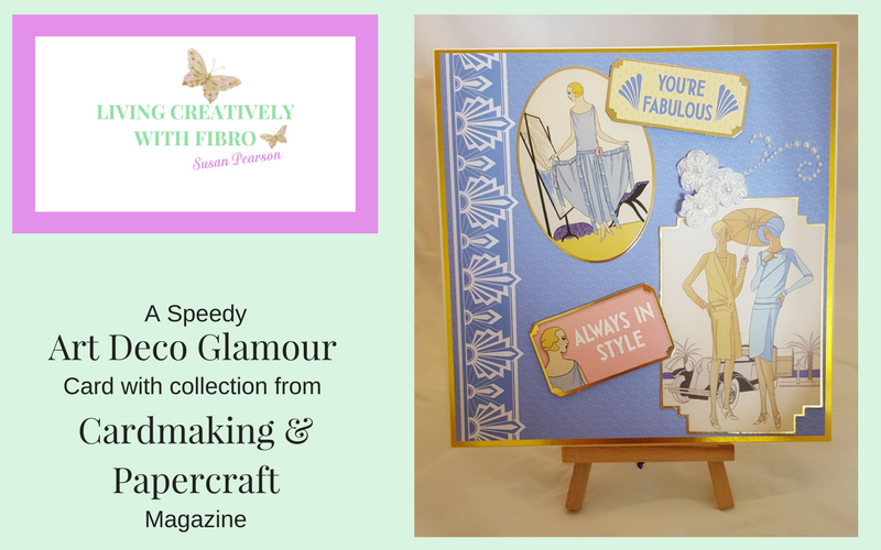 Living Creatively with Fibro | A Speedy Art Deco Card
