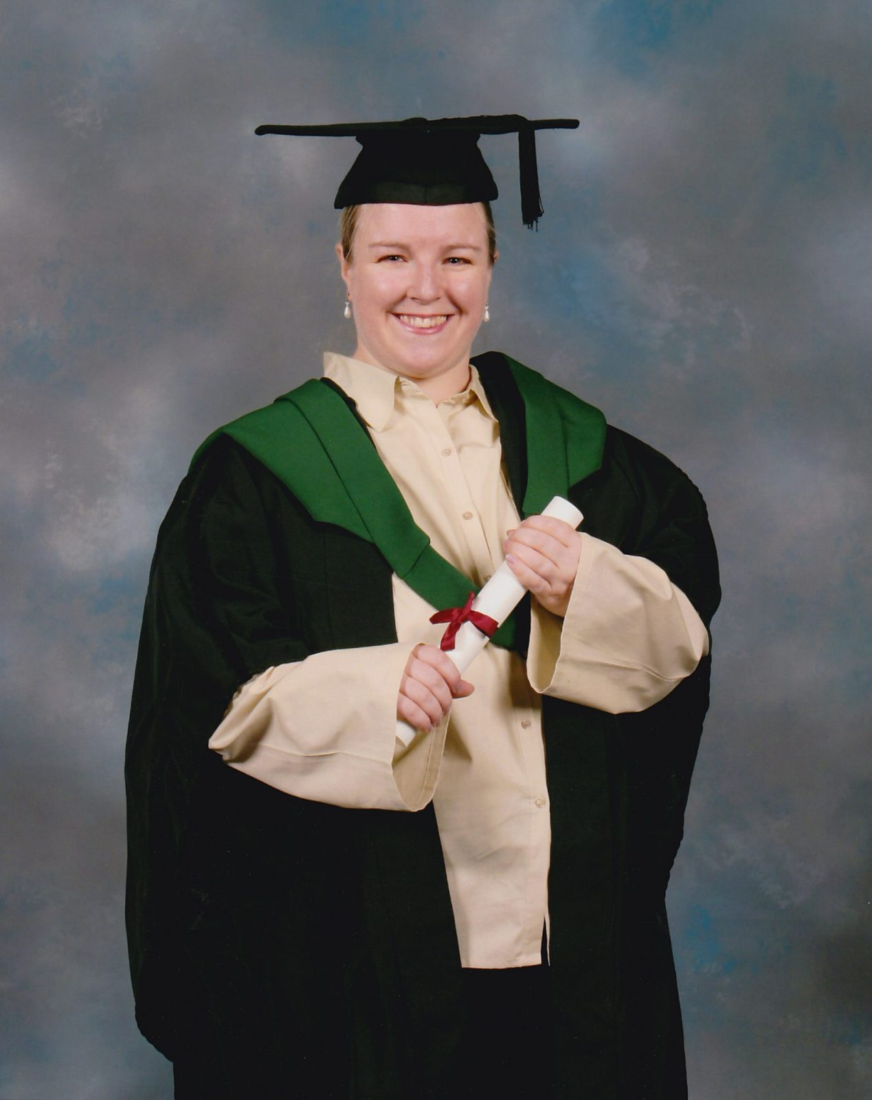 My Official Graduation photo enjoying life before Fibromyalgia
