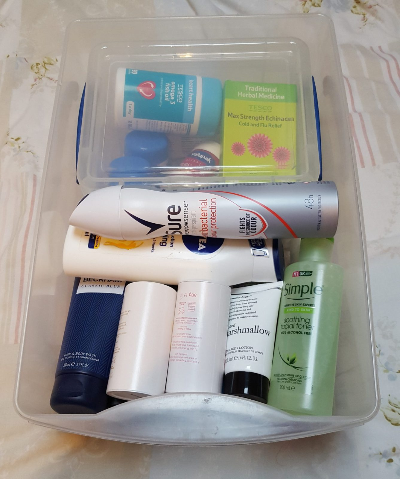 Living Creatively with Fibro | The spare toiletry drawer still full but a lot more organised and only containing what will be used